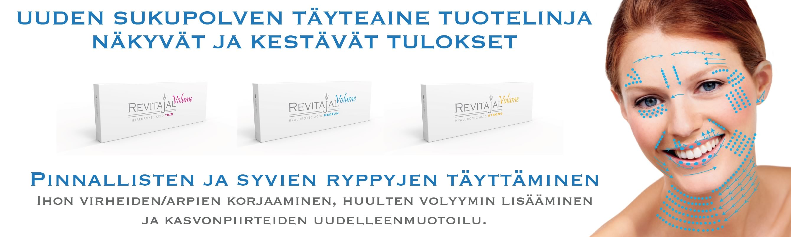 Revitajal-Tuotteita